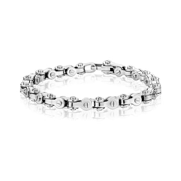 Mens Steel Bracelets - Modern Stainless Steel Bicycle Chain Bracelet