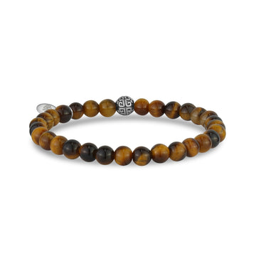 6mm Brown Tiger Eye Stretch Bead Bracelet