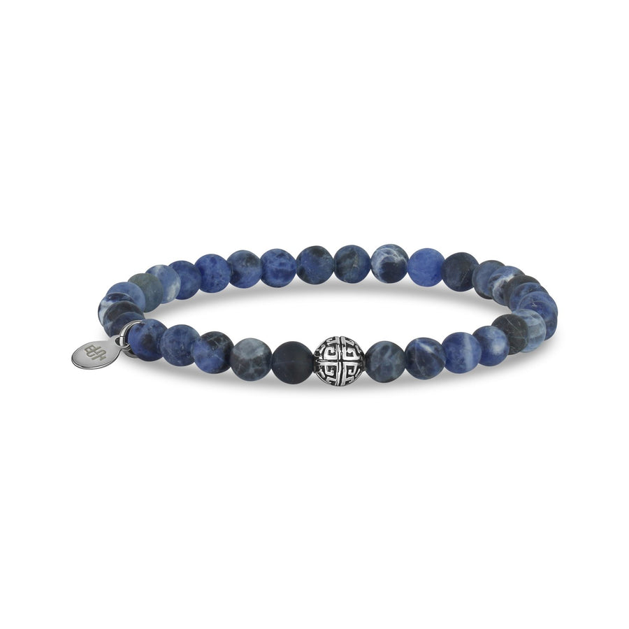 6mm Matte Blue Sodalite Stretch Bead Bracelet