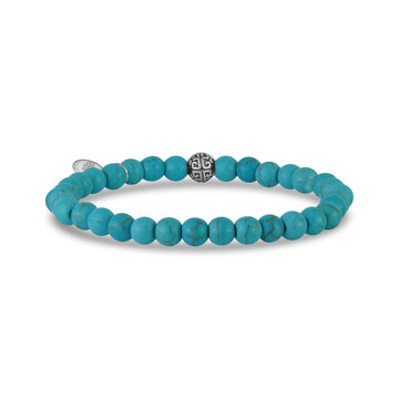 6mm Neo Turquoise Stretch Bead Bracelet