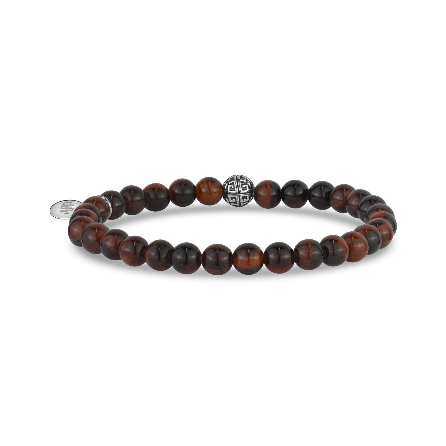 Unisex Bead Bracelet - 6mm Red Tiger Eye Stretch Bead Bracelet