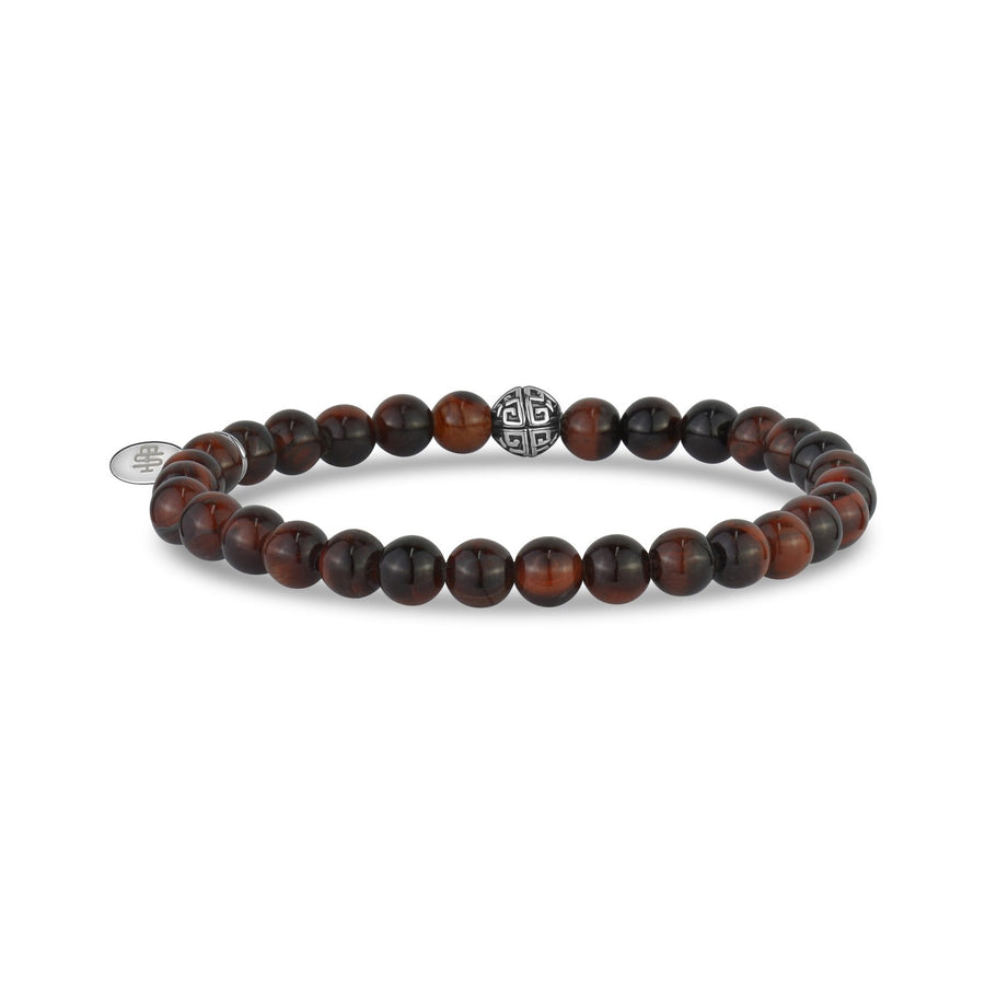6mm Red Tiger Eye Stretch Bead Bracelet