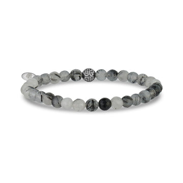 6mm Rutilated Quartz Stretch Bead Bracelet