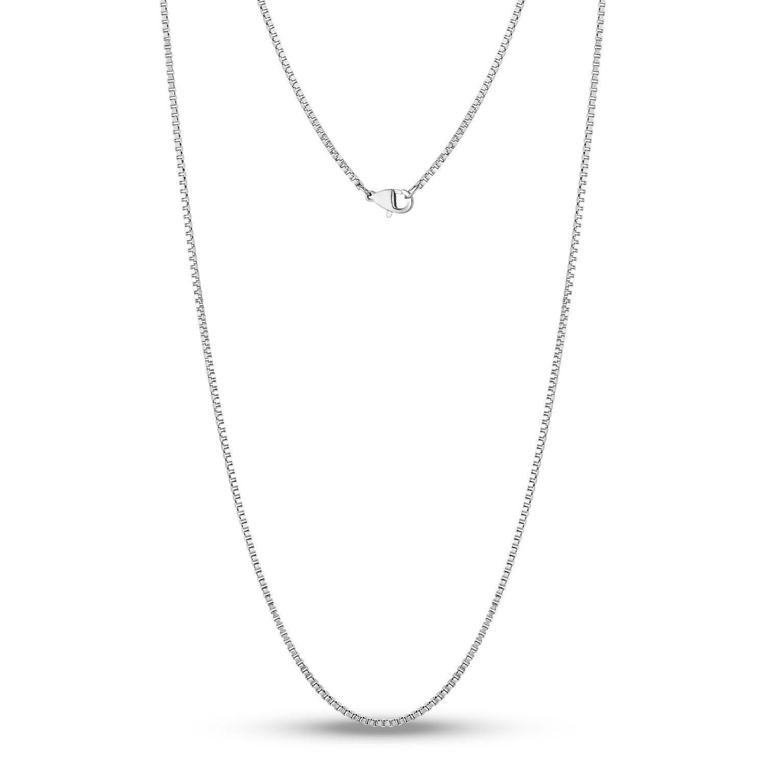 Unisex Necklaces - 1.5mm Thin And Dainty Steel Box Link Necklace