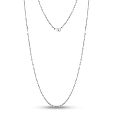 1.5mm Thin and Dainty Steel Box link Necklace