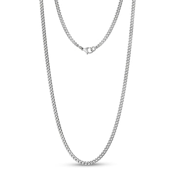 Unisex Necklaces - 3.5mm Stainless Steel Cuban Link Chain Necklace