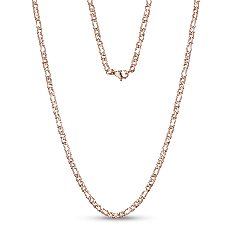 3.5mm Stainless Steel Figaro Link Chain Necklace