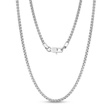 Unisex Necklaces - 3mm Round Box Link Steel Chain Necklace