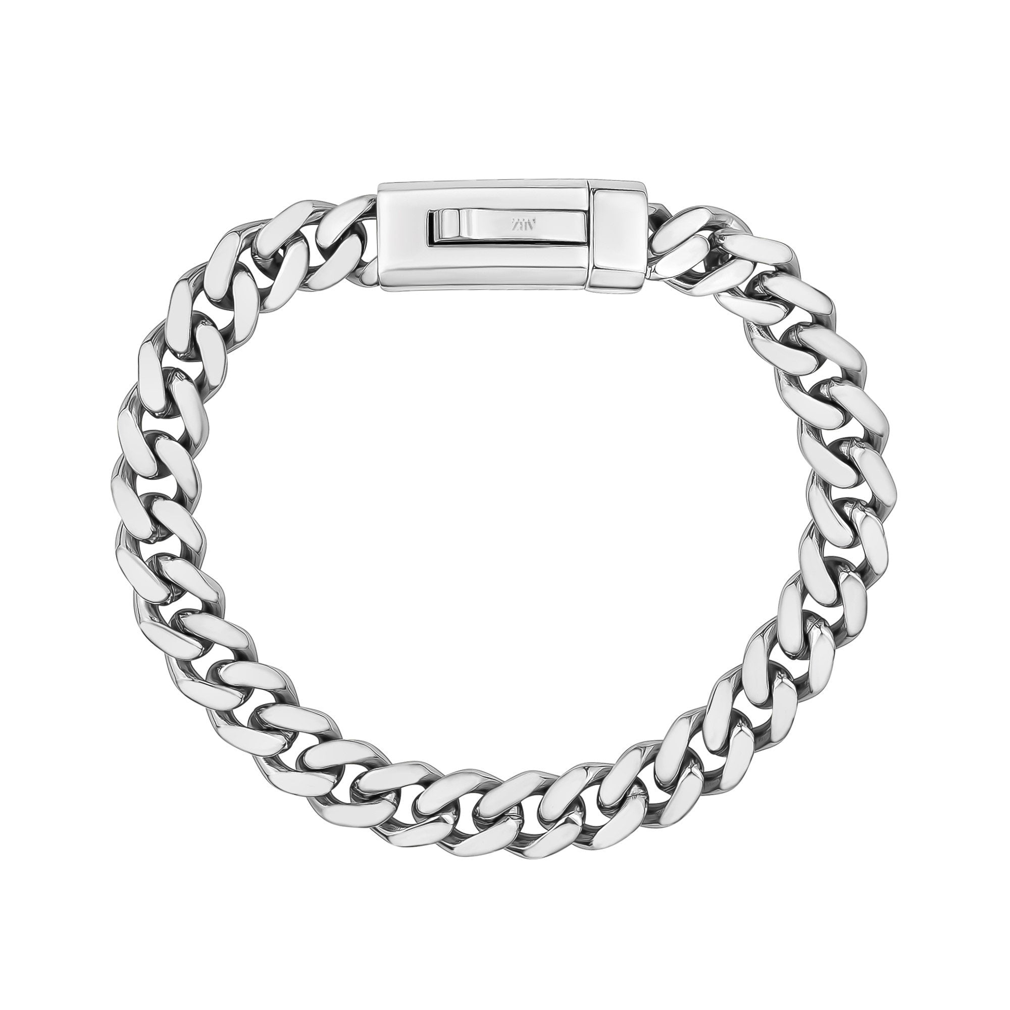 Unisex Steel Bracelet - 9mm Stainless Steel Cuban Link Engravable Bracelet
