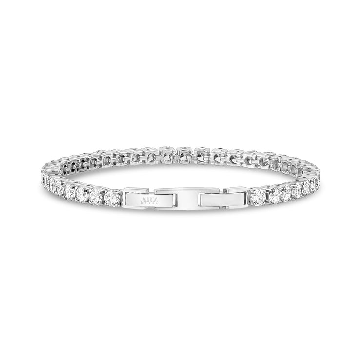 4mm Cubic Zircon Stainless Steel Tennis Bracelet