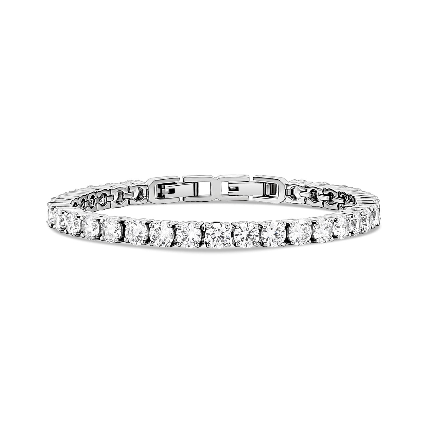 Women Bracelet - 5mm Cubic Zircon Stainless Steel Tennis Bracelet