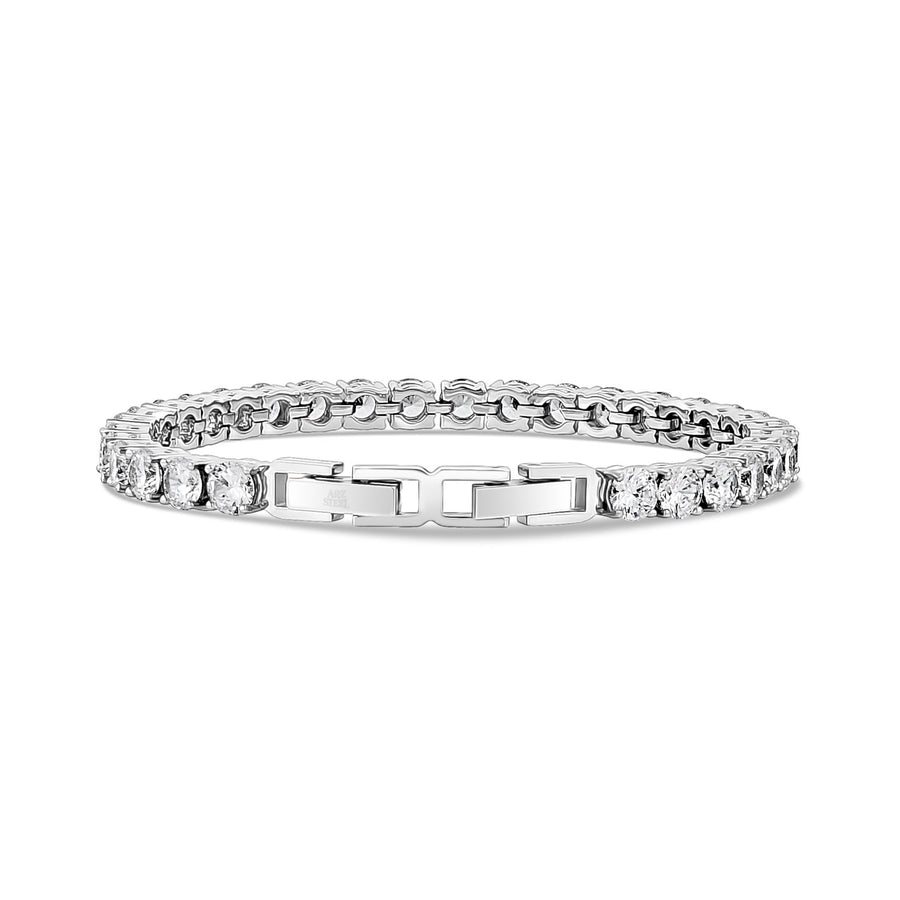 5mm Cubic Zircon Stainless Steel Tennis Bracelet
