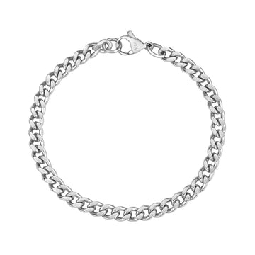 Women Bracelet - 5mm Stainless Steel Cuban Link Dainty Bracelet