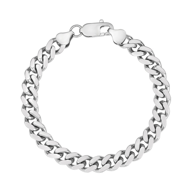 Women Bracelet - 8mm Stainless Steel Cuban Link Bracelet