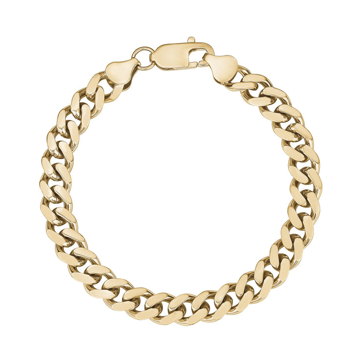 Women Bracelet - 8mm Gold Stainless Steel Cuban Link Bracelet