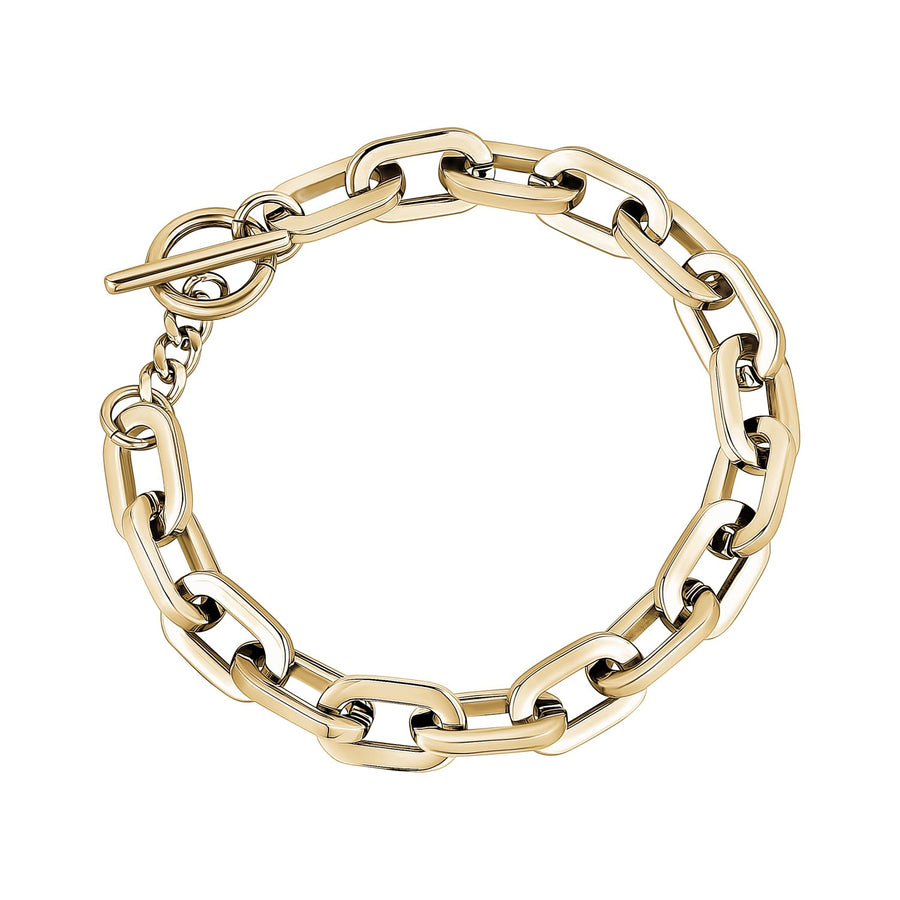 8mm Stainless Steel Elongated Link Bracelet