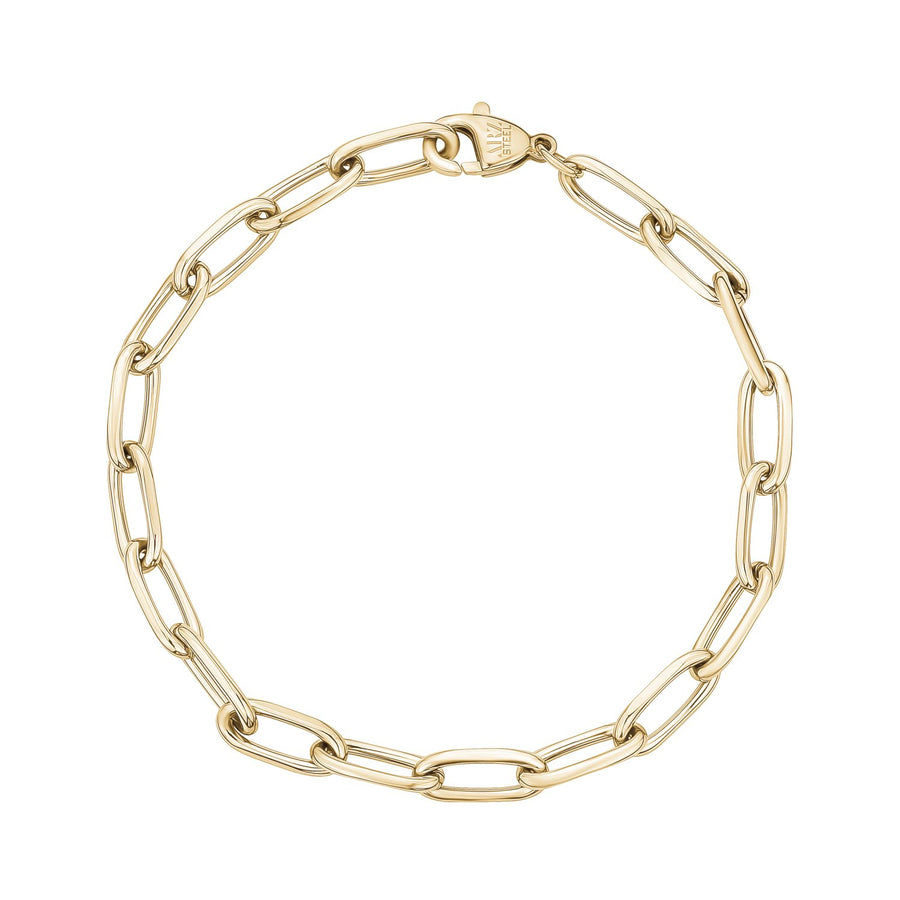 Stainless Steel Paper Clip Chain Bracelet