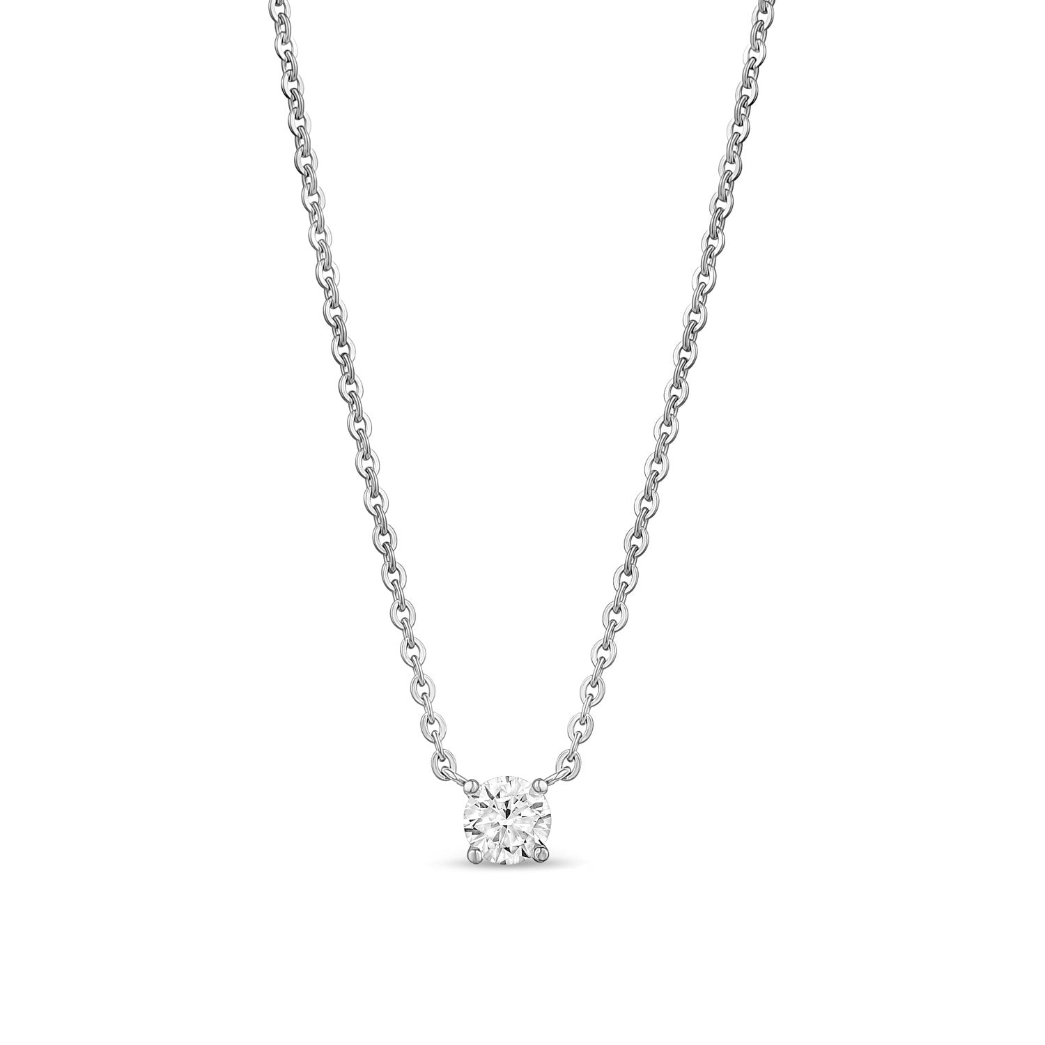 Women Pendant - 5mm Cubic Zircon Stainless Steel Pendant