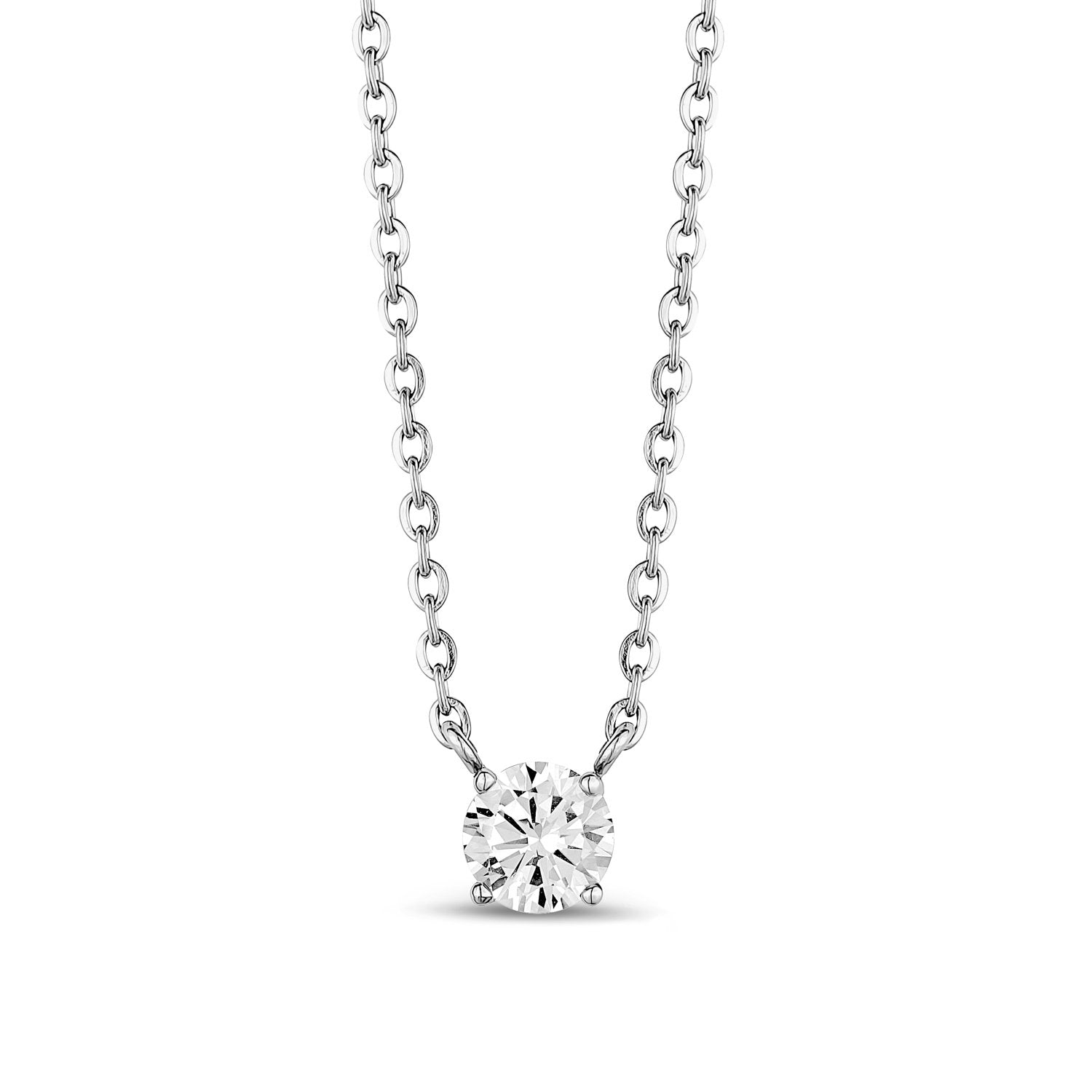 Women Pendant - 6.5mm Cubic Zircon Stainless Steel Pendant