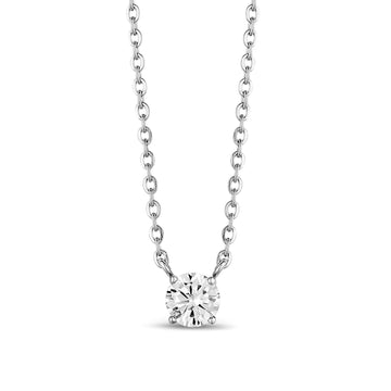 6.5mm Cubic Zircon Stainless Steel Pendant