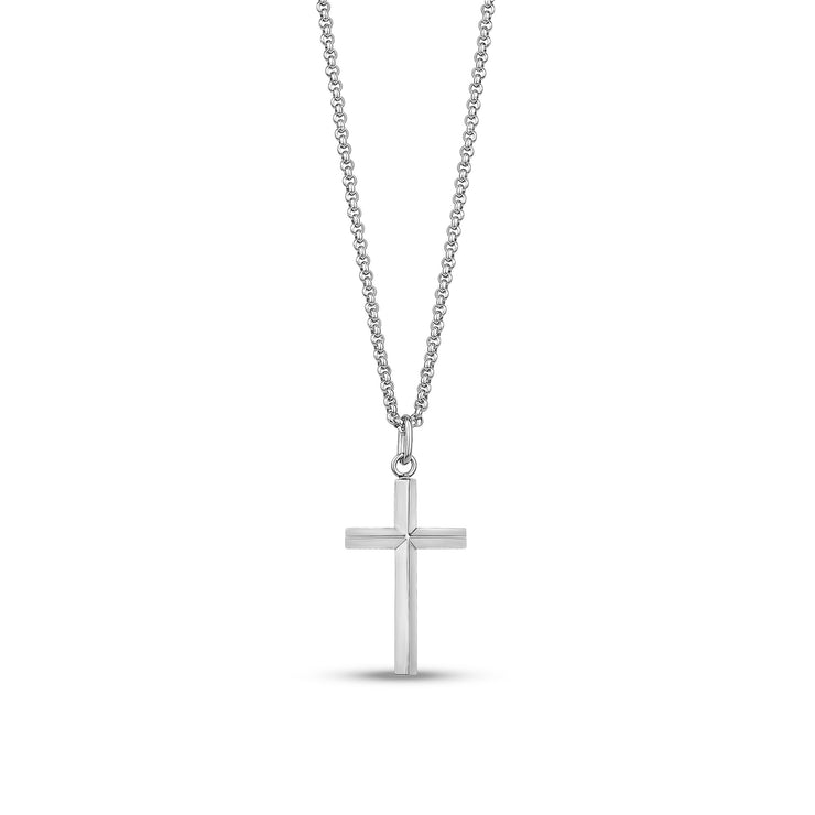 Women Pendant - Modern Stainless Steel Cross Pendant
