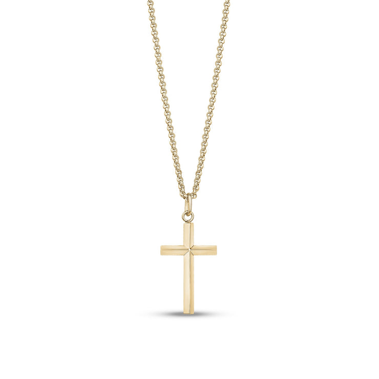 Women Pendant - Modern Gold Stainless Steel Cross Pendant