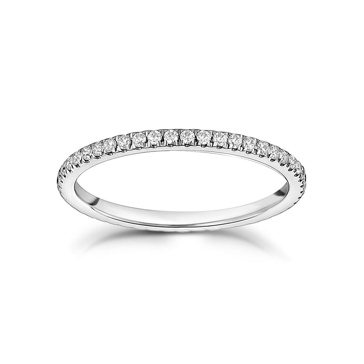 1.5mm Thin Cubic Zircon Stainless Steel Eternity Band