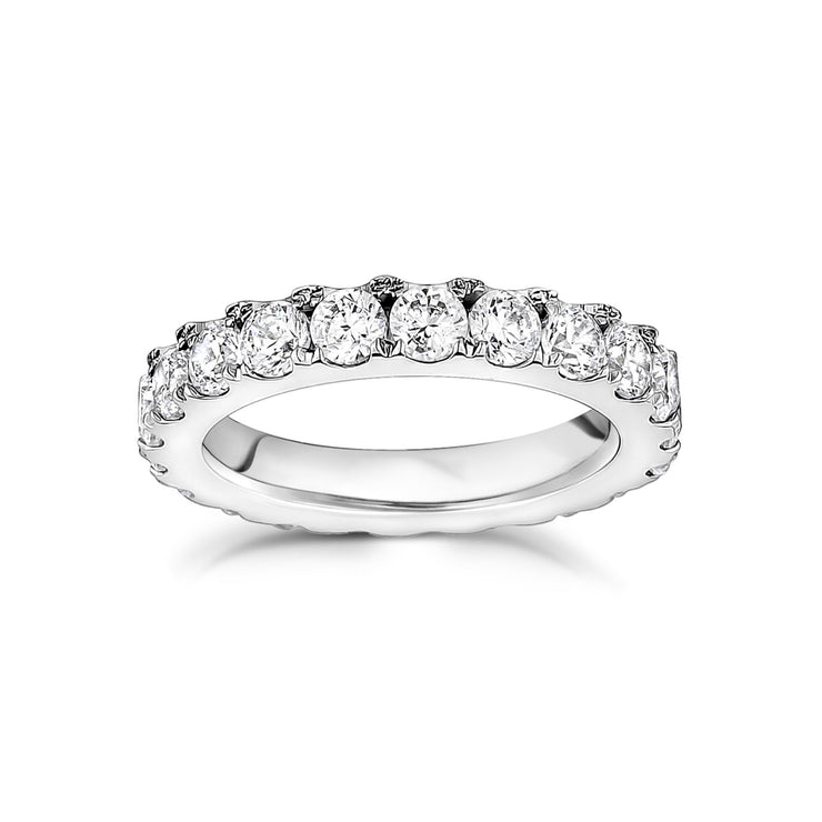 3.5mm Cubic Zircon Stainless Steel Eternity Band