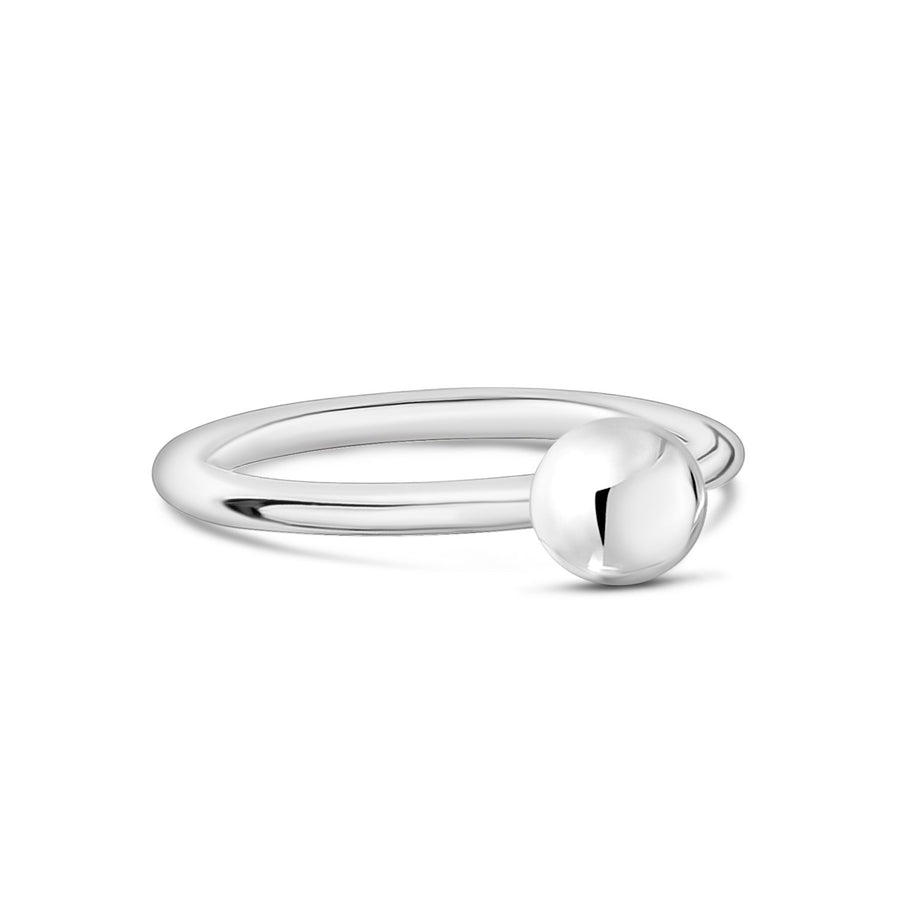 Women Ring - Stainless Steel Round Ball Stackable Ring
