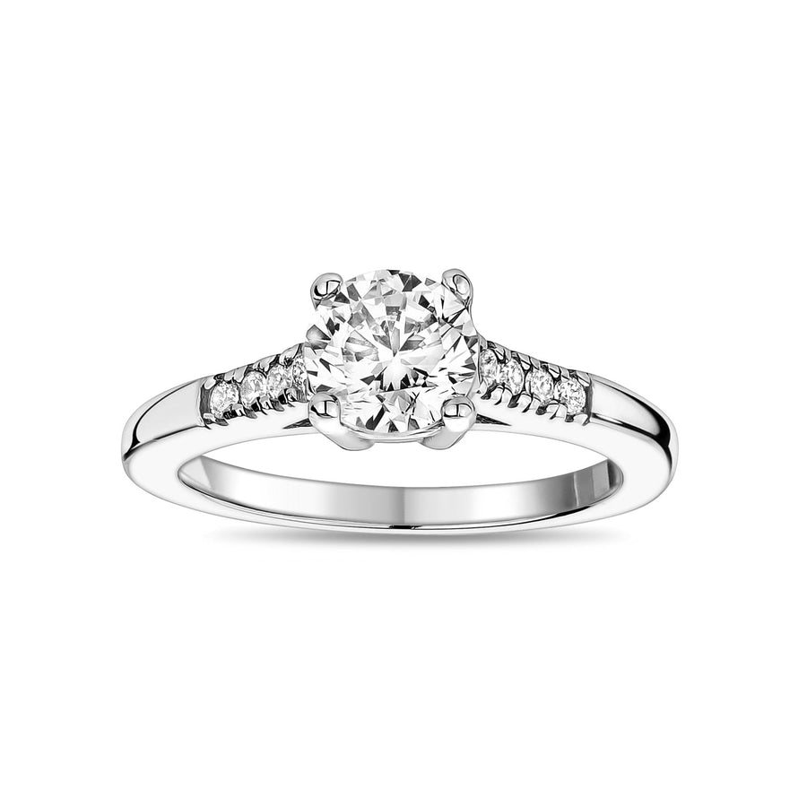 Women Ring - Stainless Steel Round Solitaire Ring