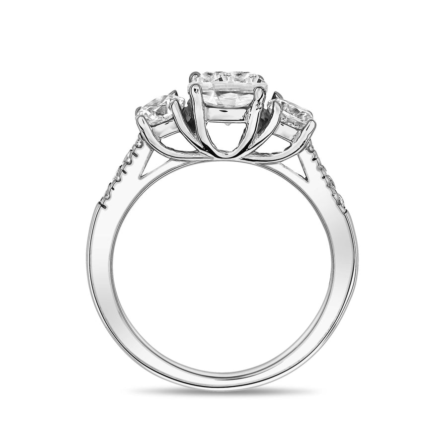 Women Ring - Stainless Steel Round Trinity Ring