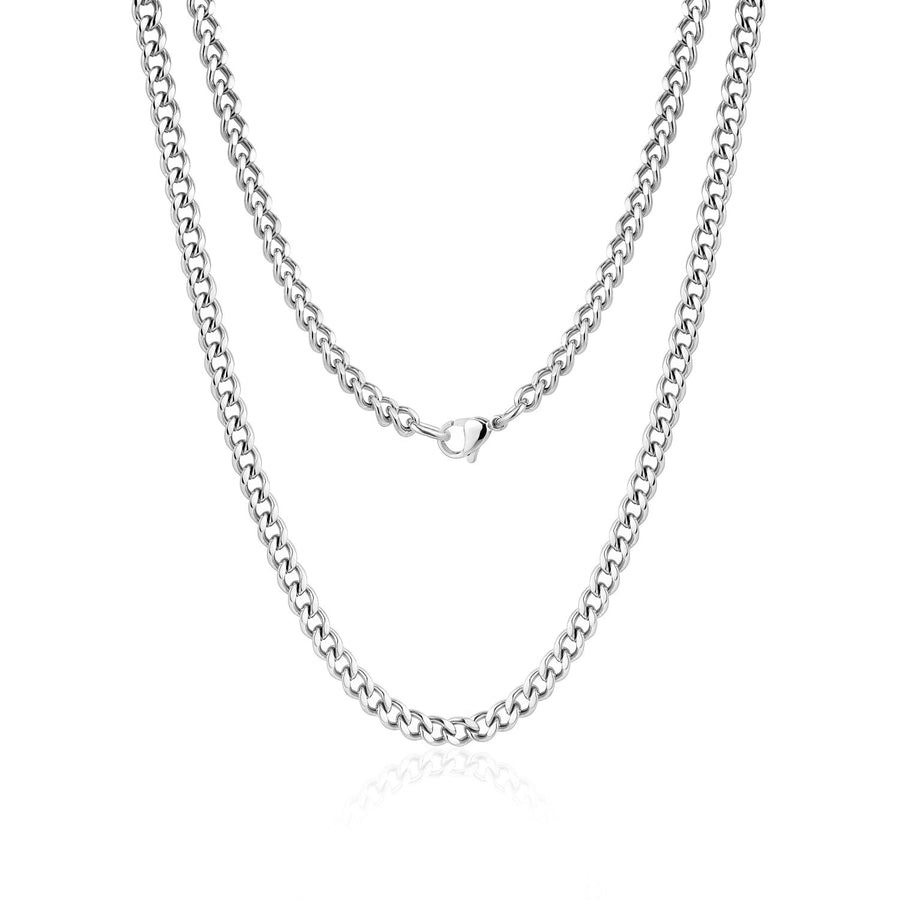 4mm Curb Link Stainless Steel Choker Necklace