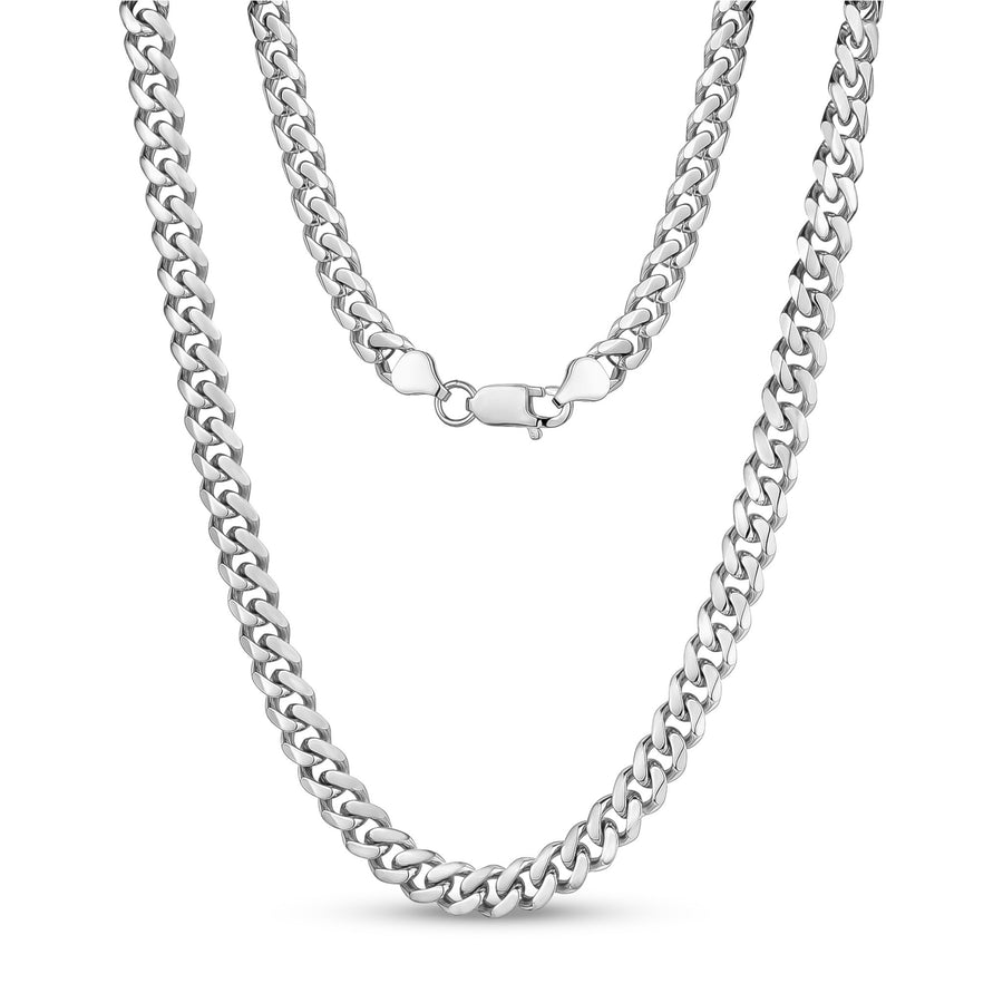 Women's Necklaces - 8mm Stainless Steel Cuban Link Necklace