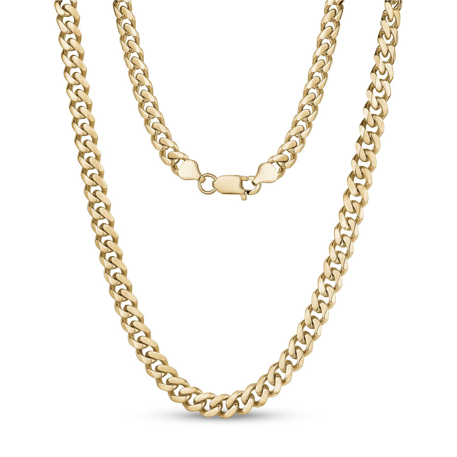 Women's Necklaces - 8mm Gold Stainless Steel Cuban Link Necklace