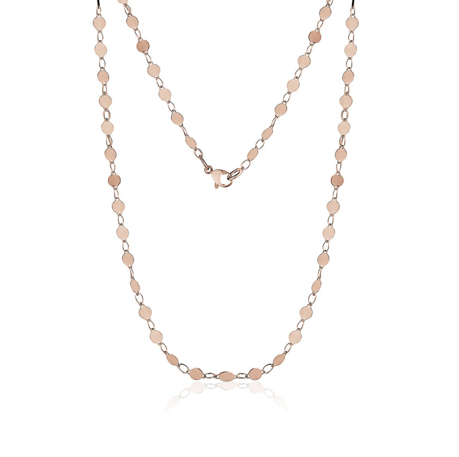 Women's Necklaces - Round Disc Rose Gold Steel Anklet / Choker / Necklace