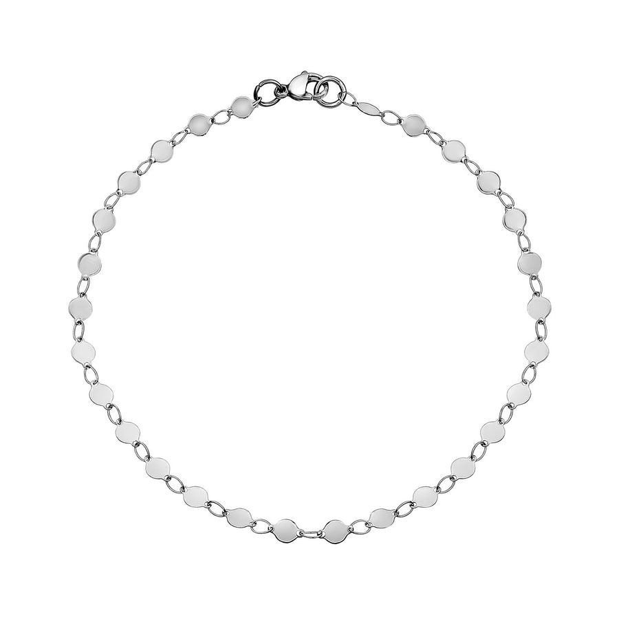 Round Disc Steel Anklet / Choker / Necklace
