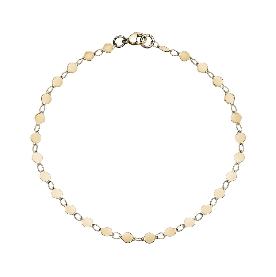 Women's Necklaces - Round Disc Gold Steel Anklet / Choker / Necklace