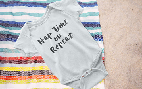 Nap Time on Repeat - Girl's Onesie