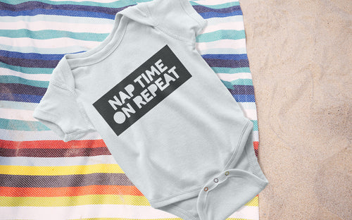 Nap Time on Repeat - Boy's Onesie