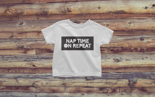 Nap Time on Repeat - Boy's Toddler Tee