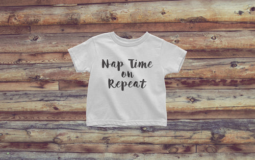 Nap Time on Repeat - Girl's Toddler Tee