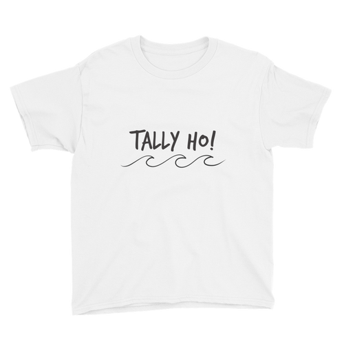 Tally Ho! Boys Youth Tee in White