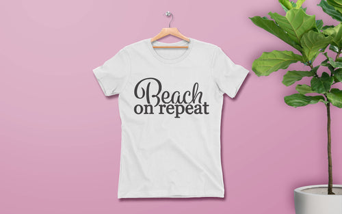 Beach on Repeat - Women's Tee