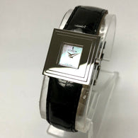 CORUM Quartz Steel Ladies Watch MOP Dial CORUM Black Crocodile Band