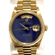 ROLEX Oyster Perpetual DAY-DATE 36mm Steel Men's/Unisex Watch Blue Dial BOX & PAPERS