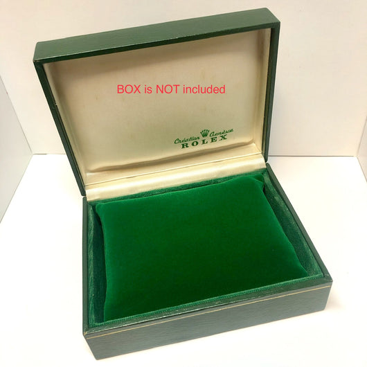 New Hand Made Green Short Velvet PILLOW CUSHION fits ROLEX Watch Box