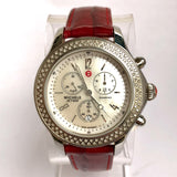 MICHELE JETWAY DIAMOND Chronograph Steel Ladies Watch 112 Diamonds 0.5TCW