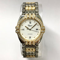CHOPARD GSTAAD Automatic 32mm 18K Yellow Gold & Steel 1.92TCW Diamond Watch