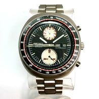 SEIKO Chronograph Tachymeter Automatic Month Date Steel Men's Watch Water Resist. 70M
