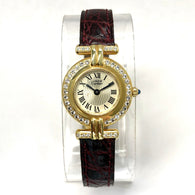 MUST DE CARTIER VERMEIL COLISÈE 150th Anniversary LMT ED Quartz GP Argent Watch 0.67TCW DIAMONDS
